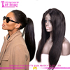 Straight full lace wig human hair virgin brazilian hair unprocessed soft natural girls hair wig