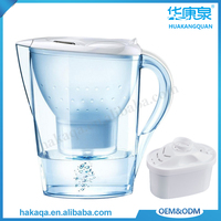 Living room plastic ABS water filter pitcher UF activated carbon alkaline portable water purifier