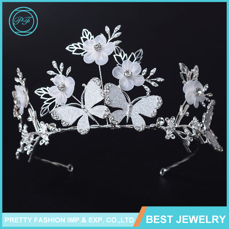 HG648 New Design Jewelry Butterfly Crown Bridal Hair Accessories Flower Crown Tiara