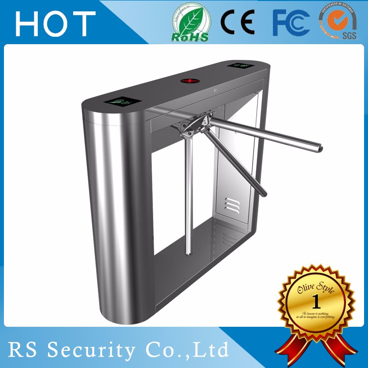 Full Automatic amusement Tripod Turnstile With Anti Crash