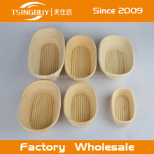Rattan Banneton - Cane Brotform - Rattan Proofing Bread Baskets Wood Base