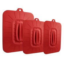 Eco-friendly FDA approved Amazon hot selling rectangular big size silicone lids set