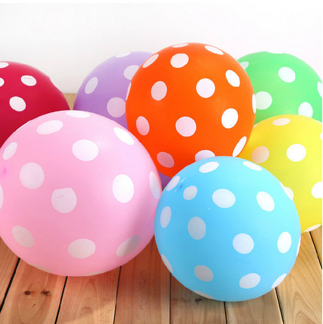 22 color 10 pcs/lot 12 inch thick 2.8g wedding party balloons candy-colored dots wave point decorate balloons