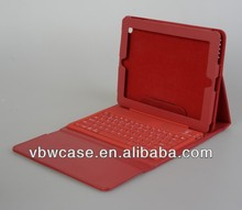 9.7 tablet pc leather case bluetooth keyboard, bluetooth keyboard leather case for new ipad