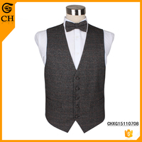Fashion mens long designer vests custom