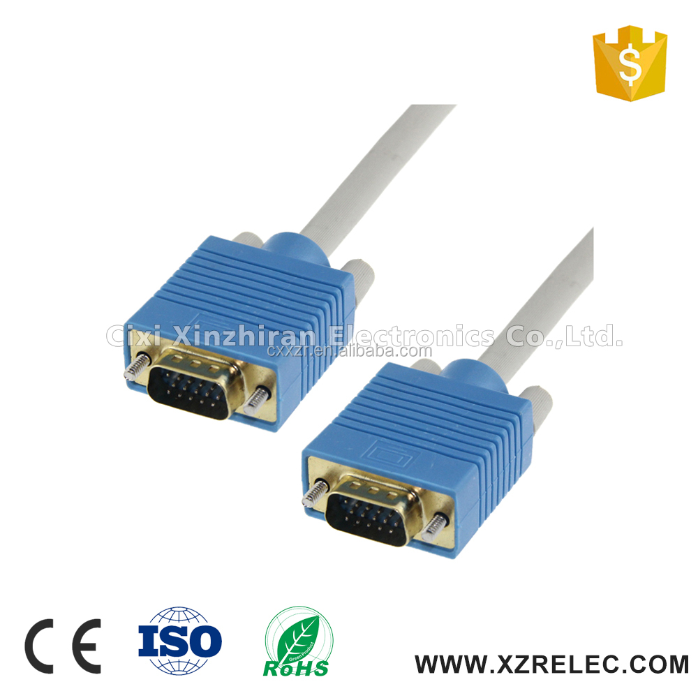 High quality 15pin super soft vga cable computer cable