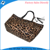 Ladies top qoality low price beautiful new design fashion leopard shopping bag