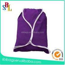 2015 new products cotton canvas backpack with drawstring