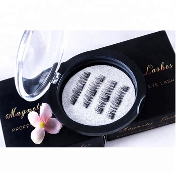 Natural looking eyelash packaging paper box eyelash packaging with mirror 3d Magnetic Eye Lashes