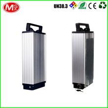 hot sale rear lithium battery silver fish series 36v 10Ah electric bike li ion battery