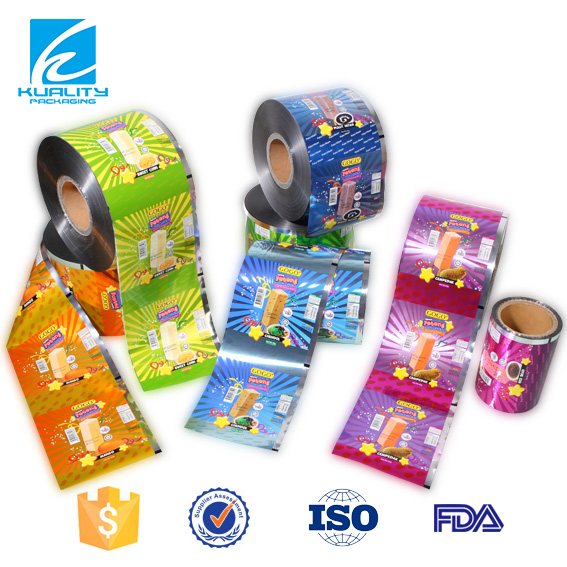 Printed Plastic Laminated Cold Seal Ice Lolly Packaging