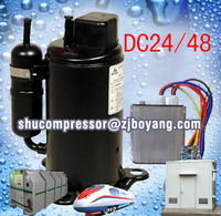 Battery operated auto air conditioner DC Battery Electric Truck portable Air Conditioner for car