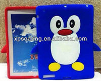 Cute penguin soft case skin cover for ipad 3 ipad 4 ipad 2