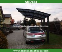 aluminum car parking shade lean to cover