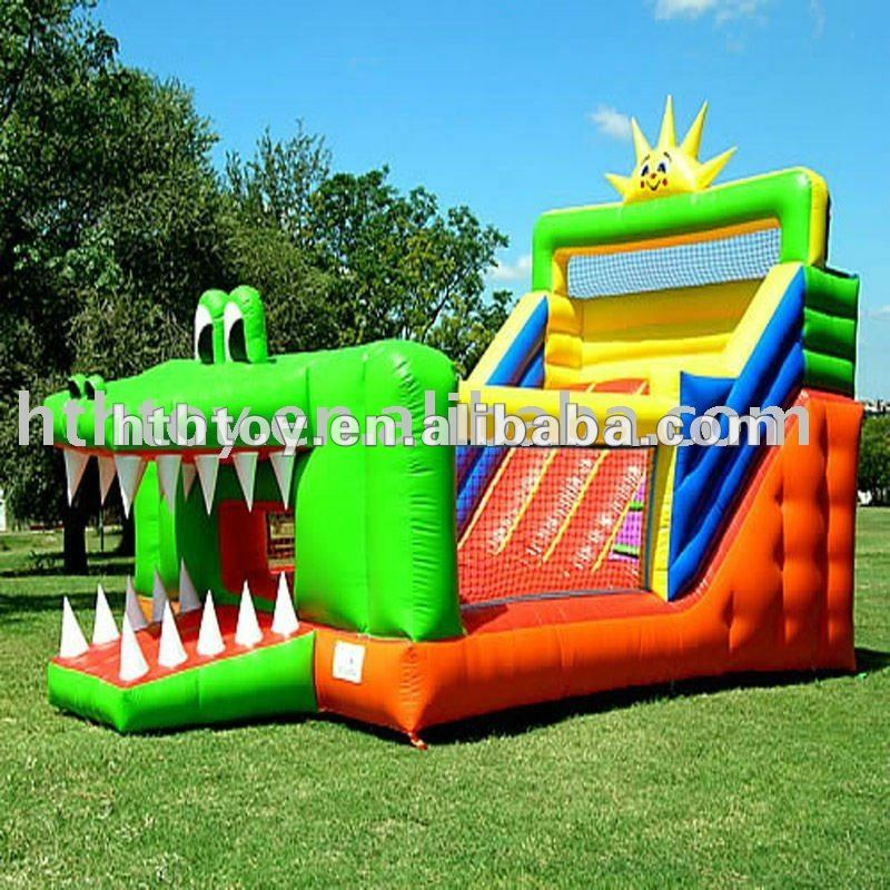 Funny Shark lovely Cat inflatable bouncy with slide