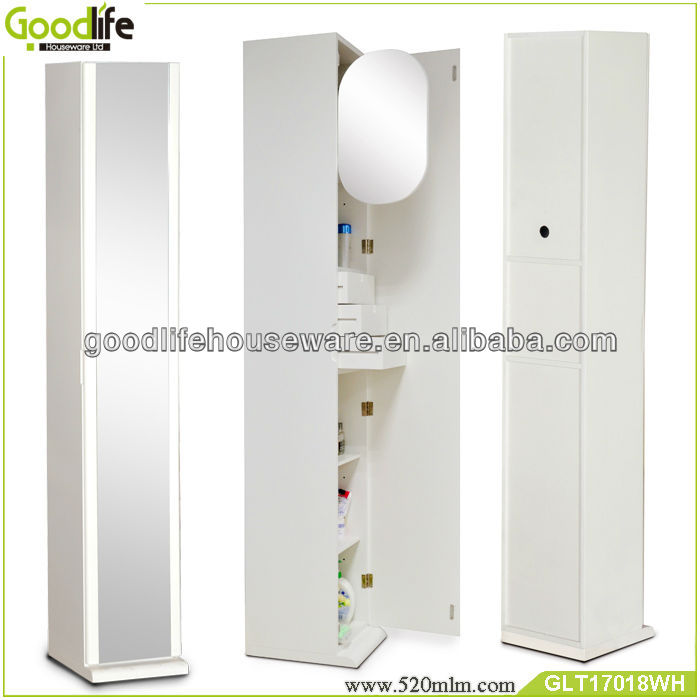 Made in china corner cabinet bathroom furniture with full length mirror