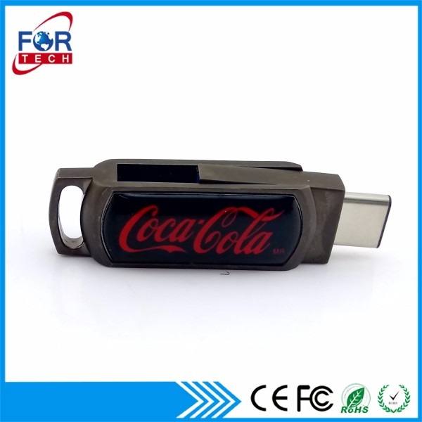 2017 New hot items electronics gifts type c 3.1 usb flash drives usb with 2 siede logo printing 8gb-128gb