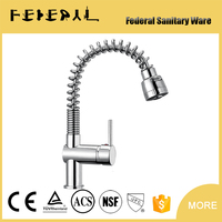 cupc brass Spring Kitchen faucet with wall mounted kitchen mixer taps