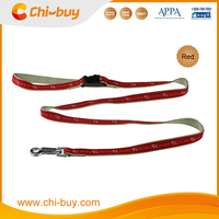 "4ft x 3/5"" Pet Running Red Print Dog Leash with Padded Nylon Handle"