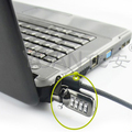 Hot sale new product grey cable 3 digital cipher computer lock for hp