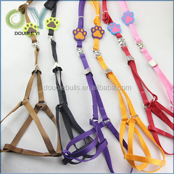 Custom wholesale Dog Harness Cheap Pet Products Little Puppy Dog Collar and Leash , pets supplies