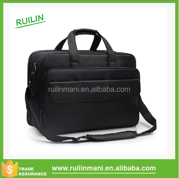 "17"" Black Unisex Travelling Laptop Bag With Long Strap"