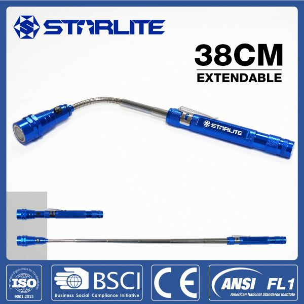 STARLITE aluminum alloy telescopic straw hat led flashlight