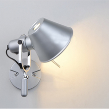 Aluminum wall lamp hotel parlor bedside light E27 LED wall mounted led bed head reading light