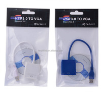 usb3.0 to vga converter cable support 1080P usb to vga graphics adapter