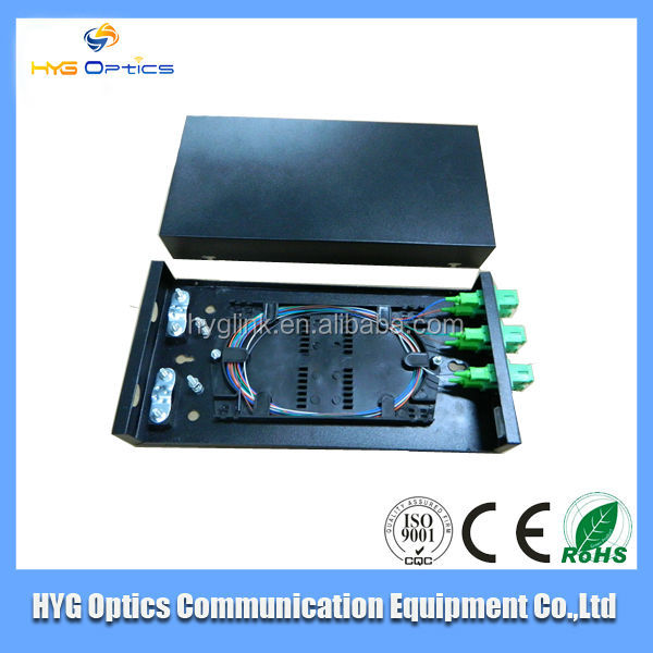 6 port fiber optic patch panel ,6 port fiber optic terminal box with sc adapter