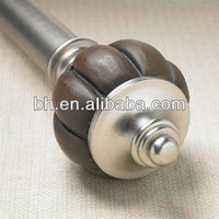 arts and crafts curtain rods, resin curtain rod head, motorized curtain rod