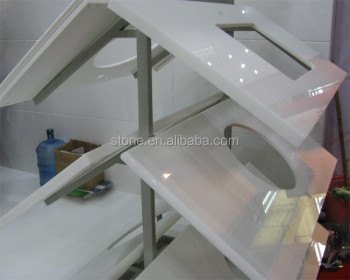 Nano Crystallized White Glass Nanoglass Countertop Vanity Top
