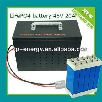 48 volt lifepo4 battery 20ah for 3kw motor+BMS+case TB-4820F wholesale price