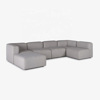 Foshan fashion comfortable chaise lounge living room furniture combination sofa