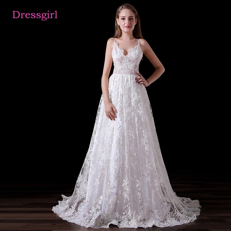 Backless Vestido De Noiva 2018 Beach Wedding Dresses A line ...