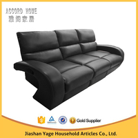 Cheap leather sofa set Fashion design 3 seater recliner sofa