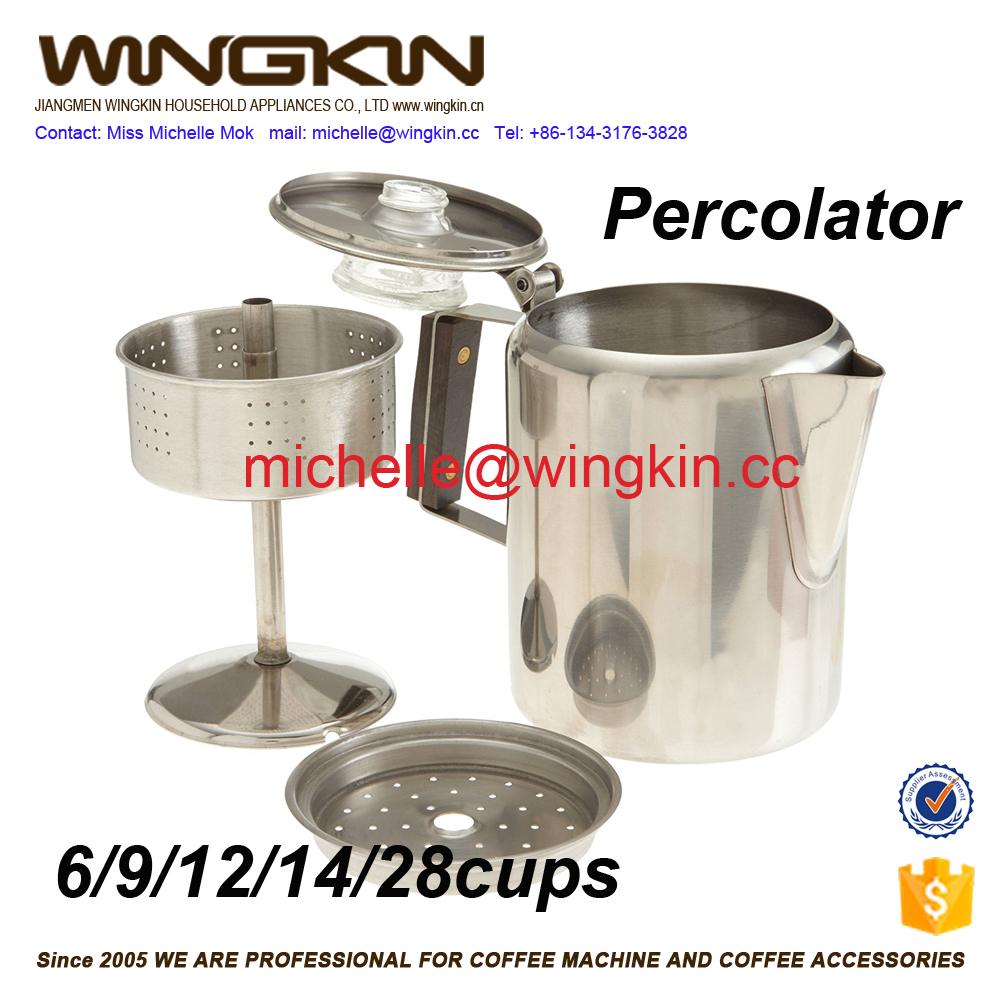 ALUMINUM PERCOLATOR COFFEE POT - 20 CUP
