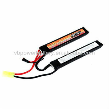 7.4V 2200mAh 15C Crane Stock LiPO battery for airsoft gun