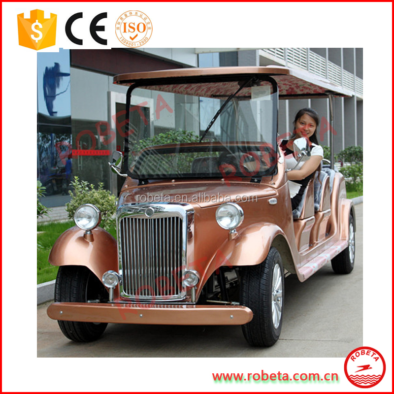 Retro splendid noble design electric classic club car wedding car