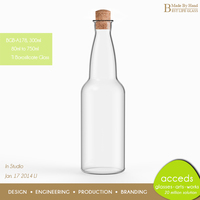 Custom Design Home Goods Transparent Wine Bottle