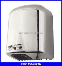 stainless steel automatic uv light hand dryer for toilet with 220v and 110v