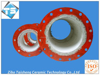 china supplier of wear resistant steel and alumina ceramic lined pipe