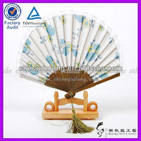 Silk Bamboo Hand Fan For Wedding Decoration