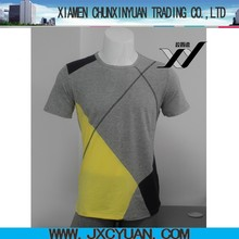 short sleeve design t shirt with multi colors for men clothing