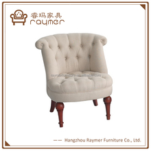Small White Fabric Upholstered Comfortable Relax Chair