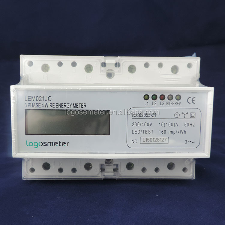 Three phase din raill mounted Digital display energy meter with CE approved,electric meter,electronic meter price