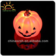 Cool vinyl material light up colorful LED glowing pumpkin for Halloween