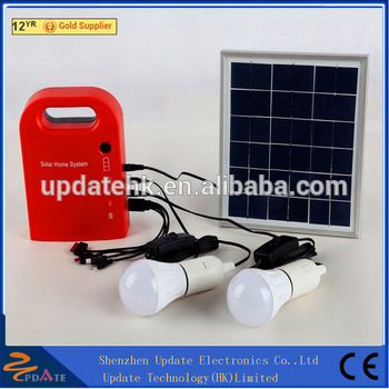 Mini Portable all in one 15w solar lighting /Power system home use for camping
