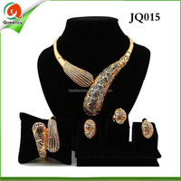 JQ015 wholesale ladies indian 18k gold jewelry with good quality