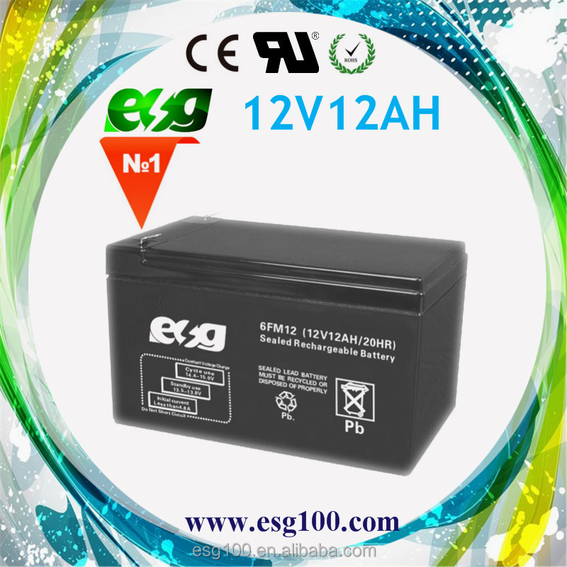 Maintenance Free Sla battery 12V 12AH Sealed Lead acid battery